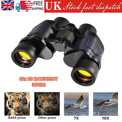 Outdoor Adult 60X60 Portable HD High-power Night Vision Binoculars Telescope • 18.99£