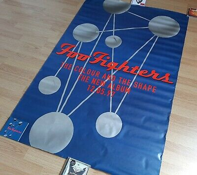 Foo Fighters - The Colour And The Shape - HUGE ORIGINAL Promo Poster Ultra Rare • 109.99£
