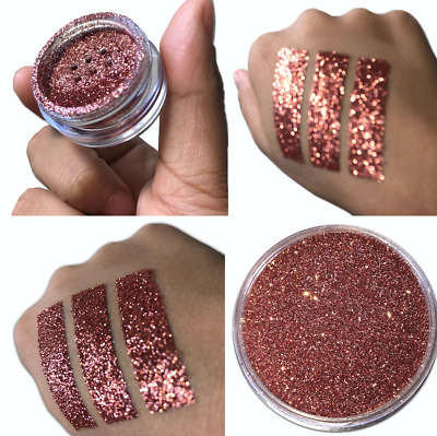 Ultra Fine Rose Gold Mermaid Effect Glitter Nail Art Powder Dust Glimmer Eyeshad • 2.19£