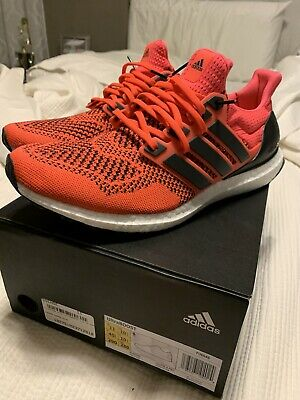 $180 • Buy Adidas Ultra Boost 1.0 Solar Red Size 11 Yellow Bape 2.0 Triple White OG Cream
