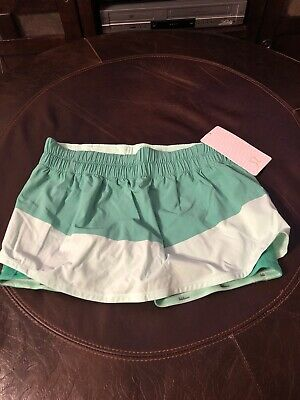 $ CDN101.50 • Buy Womens Lululemon Run: Breeze By Skirt With Liner Size 10 Two Tone Soft Green
