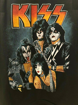 $16.99 • Buy KISS Band End Road Army Jersey Creatures Cotton Black Men S-4XL T-shirt LL662