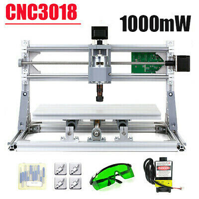 1000mW CNC3018 DIY CNC Router 2 IN 1 3 Axis Mini Laser Engraving Machine GRBL • 136.98£