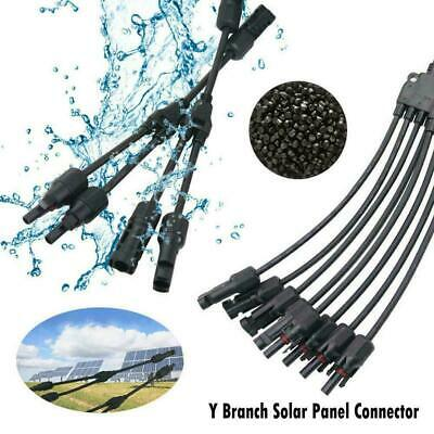 AU7.11 • Buy Waterproof Plug Kit Solar Panel Connector Y Branch Best Connection Cable M0I8