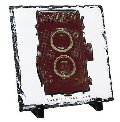 Yashica Mat 124g - Rock Slate Photo Gift With Stands High Gloss • 14.99£