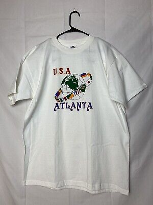 $ CDN20.30 • Buy Atlanta Georgia USA Globe T Shirt Size XL Vintage