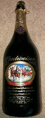 $ CDN15.25 • Buy Budweiser Collectible 1 Quart Clydesdales 2001 Commerative Bottle Winter Holiday