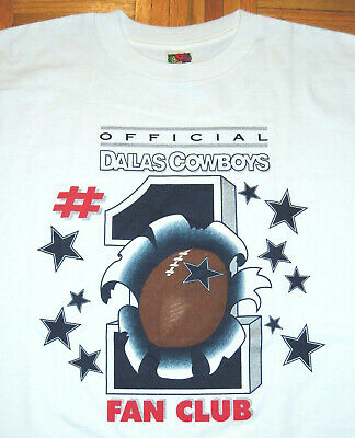 $ CDN40.59 • Buy Dallas Cowboys T Shirt Vintage 90s #1 Fan Club NFL Football Aikman Emmitt XL
