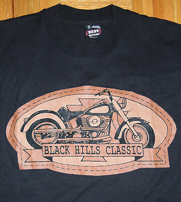 $ CDN33.82 • Buy T Shirt Vintage 90s Motorcycle Black Hills Classic Sturgis Single Stitch USA XL