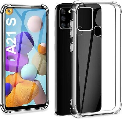 For Samsung Galaxy A21S Phone Case Shockproof Silicone Bumper Clear Gel Cover • 3.40£