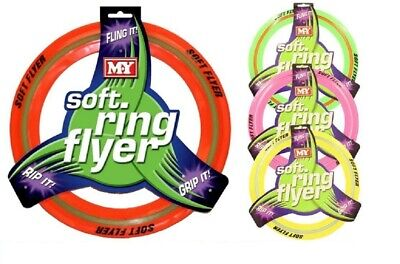 £5.75 • Buy  Flying Rubber Frisbee Soft Ring Flyer Dog Puppy Play Pet Outdoor Disc Beach