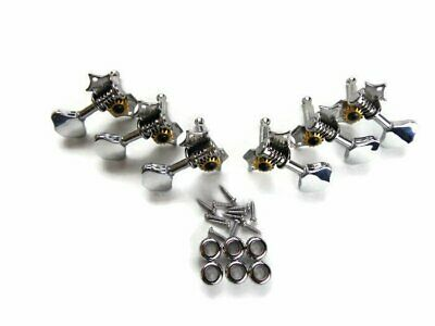 $ CDN14.03 • Buy Butterbean Oval Button Acoustic Guitar Heads Tuners Tuning Pegs 3X3 Chrome