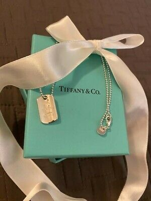 $109 • Buy Tiffany & Co Sterling Silver 2004 Tag Necklace. Rare.