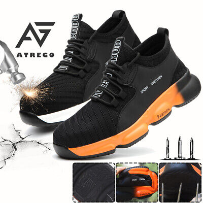 AU39.99 • Buy AtreGo Mens Safety Shoes Work Boots Steel Toe Cap Lightweight Sneakers Sports AU