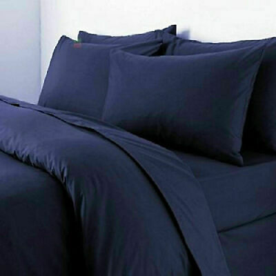800TC 100%EgypCotton Home Quality Sheet Set/Duvet/Fitted/Flat Blue Solid Sizes • 104£