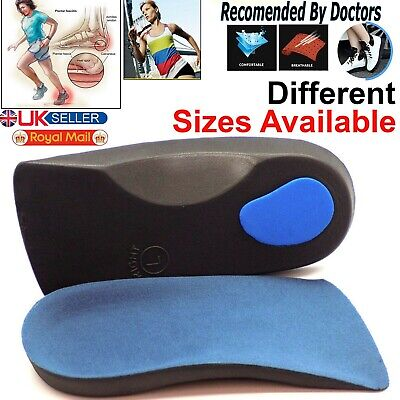 £3.45 • Buy 3/4 Orthotic Arch Support Insoles For Plantar Fasciitis Fallen Arches Flat Feet