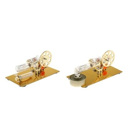 Metal Sterling Engine Motor Steam Heat Physics Experimental Toy Props Gifts • 25.04£