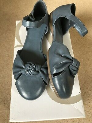 Ladies Shoes Blue Ankle Strap Bninbox Size 7EEE Evans Roma Wide Fitting • 20£