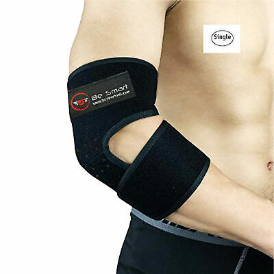 Elbow Support Adjustable Compression Sleeves Brace Tennis Weight Lifting Gym • 4.27£