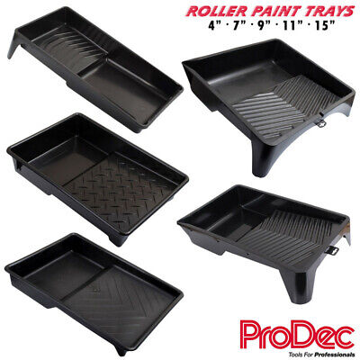 Prodec Paint Roller Tray Black Plastic & Painting Liner Trays - 4  7  9  11  15  • 10.99£
