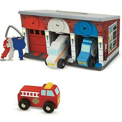 Melissa & Doug Keys & Cars Wooden Rescue Vehicle & Garage Toy, Motor Skills - 3+ • 20£