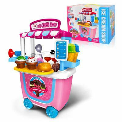 GizmoVine Toys For 3 Years Old Girl, Ice Cream Cart Pretend Toys With Carrying • 33.99£