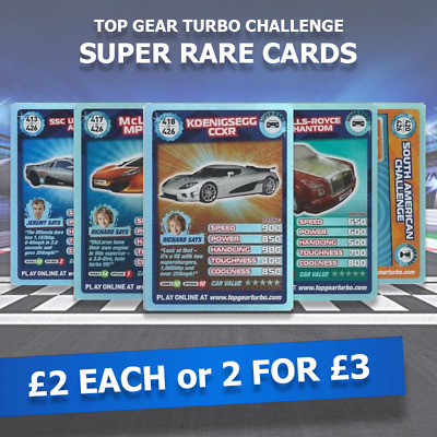 Top Gear Turbo Challenge Extra SUPER RARE Cards (£2 EACH Or 2 For £3) • 2£