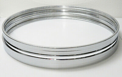 $69.99 • Buy 1980s Vintage Tama 22  CHROME Metal BASS DRUM HOOPS (Imperialstar/Phonic/Sonor)