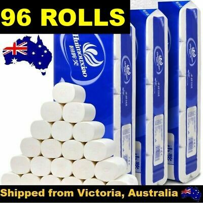 AU63 • Buy 96 Rolls Toilet Paper Soft & Strong High Quality Bulk Tissue 4 Ply Au Stock