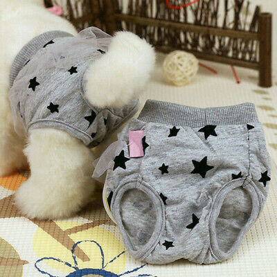 Female Dog Pet Pants Heat In Season Menstrual Sanitary Nappy Diaper Underwear • 4.19£