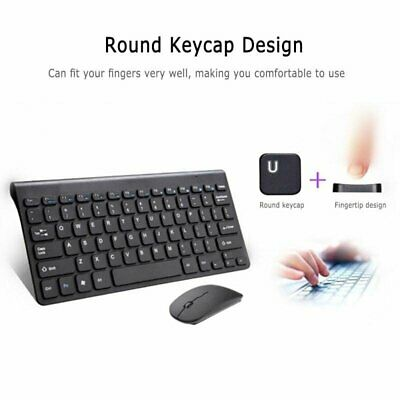 Wireless Keyboard And Mouse Combo Set 2.4G For Apple IMac And PC Full Size Slim • 13.97£