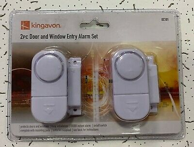 £5.99 • Buy 2Pc Window And Door Entry Alarm Set Loud Security Chime Shed Garage Deter Stick