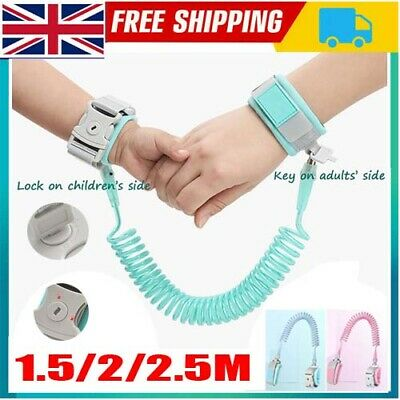 1.5/2.5M Toddler Safety Anti-lost Strap Link Harness Child Wrist Band Belt Reins • 8.89£