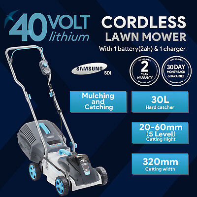 AU239.99 • Buy SWIFT 40V EB132CP2 Cordless LawnMower Cutting Width 32cm With Battery & Charger