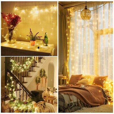 100-500 LED Solar/Battery Powered String Lights Fairy Lamp Outdoor Garden Party • 9.59£