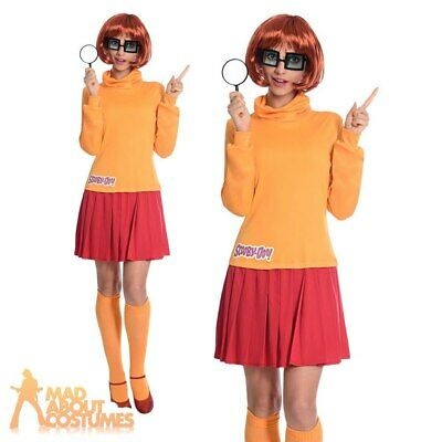 Adult Velma Costume Ladies Scooby Doo Cartoon World Book Day Fancy Dress Outfit • 26.99£