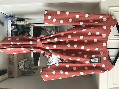 Brown Polka Dot Dress 10 Primark Brand New With Tags • 5£