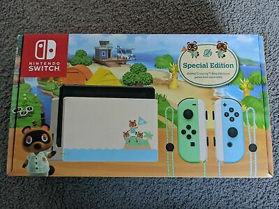 AU590 • Buy INSTOCK AUS Nintendo Switch Animal Crossing New Horizons Special Edition Console