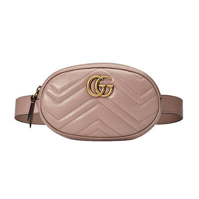 AU1359.93 • Buy NWT Authentic Gucci Marmont GG Matelassé Leather Belt Bag Size 85