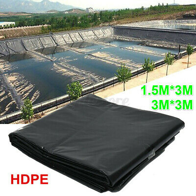 3MX3M HDPE Composite Geomembrane Pool Landscaping Fish Pond Liner Membrane UK • 13.59£