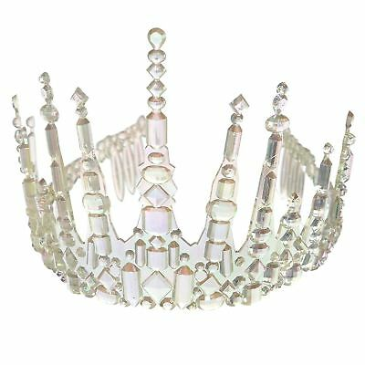 Ladies Frozen Icicle Crown Tiara Ice Queen Fairy Christmas Fancy Dress Accessory • 6.08£
