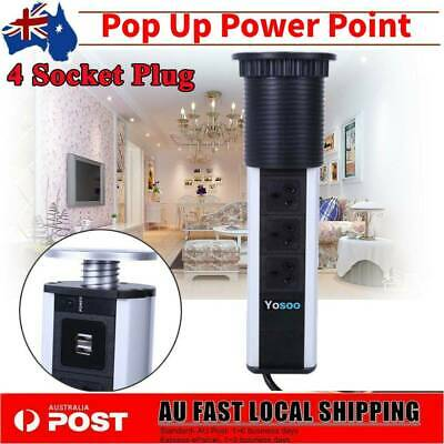 AU27.99 • Buy Power Point  Up 4 Socket With 2 USB Outlet Plug Charger Home Office Desk