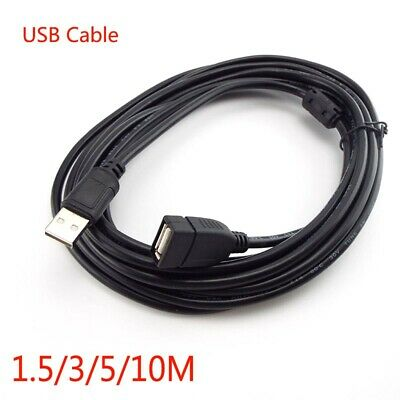 AU6.79 • Buy 1.5/3/5/10M USB 2.0 Male To Female Extension Data Charger Cable Cord Adapter M/F