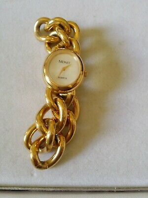 AU35 • Buy Vintage Monet Gold Tone Ladies Watch Working Signed.