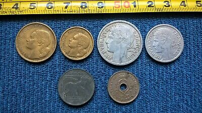 44a-JOB LOT OF FOREIGN /Old  France Coins And Old Belgium  Coins • 0.99£