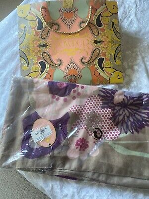 Powder Uk Modern Floral Print Scarf In Stone BNWT And Gift Bag. • 15£