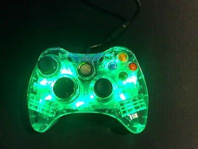 AU26 • Buy Xbox 360 Afterglow Green Led Controller Wired USB Adapter, Good Condition