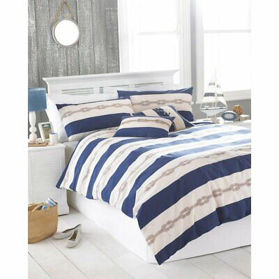 Rivahome 'Reef' Nautical Duvet Set - Super King (Blue) • 19.50£