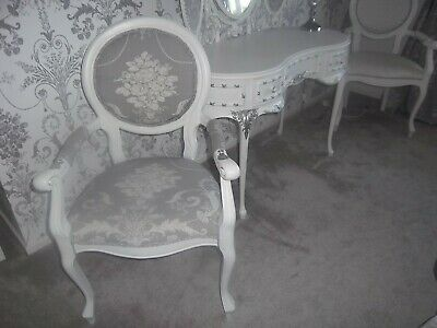 FRENCH LOUIS Carver Chair Laura Ashley Steel Grey ,white • 119£