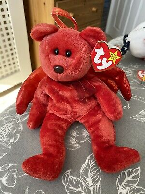 Beanie Baby Halo Bear In Red (rare) Collectable 1998 • 250£